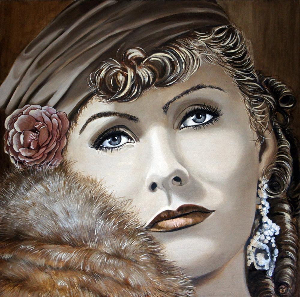 Greta Garbo oil on canvas