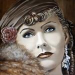 Greta Garbo oil on canvas